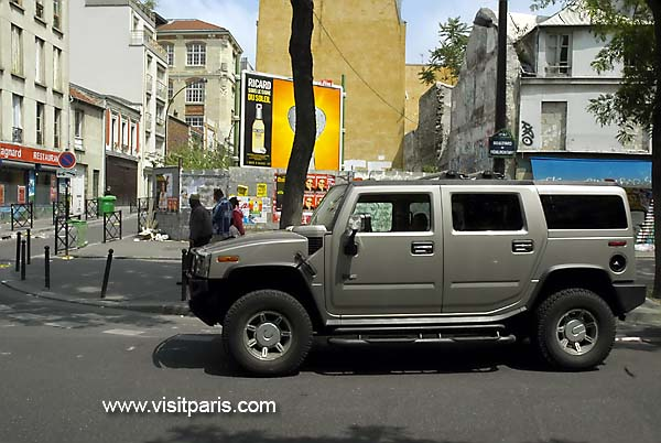 Hummer on the streets of Paris...