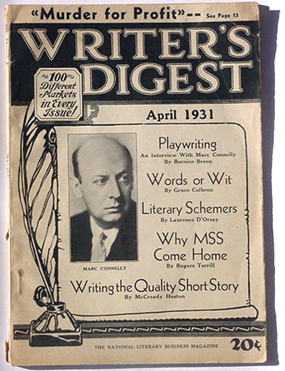April 1931 issue of Writer's Digest...