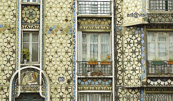 Amazing Paris tile work and mosaics ...