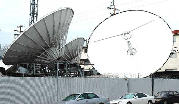 Big satellite dishes down in Culver City, CA