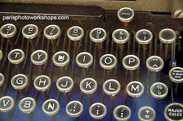 French typewriter...