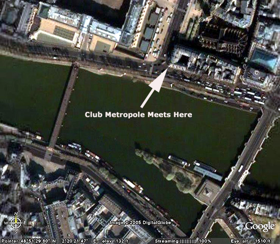 Central Paris as seen from space...
