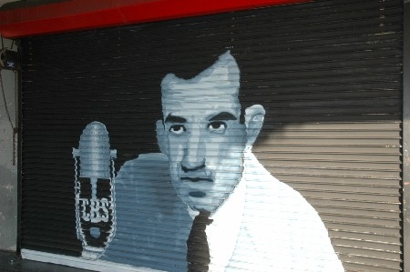 Edward R. Murrow on Hollywood Boulevard