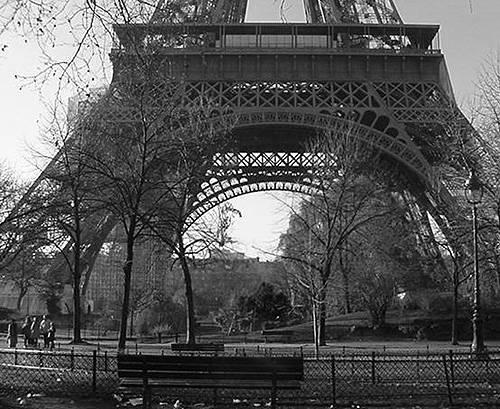Eiffel Tower, Paris, December 2001