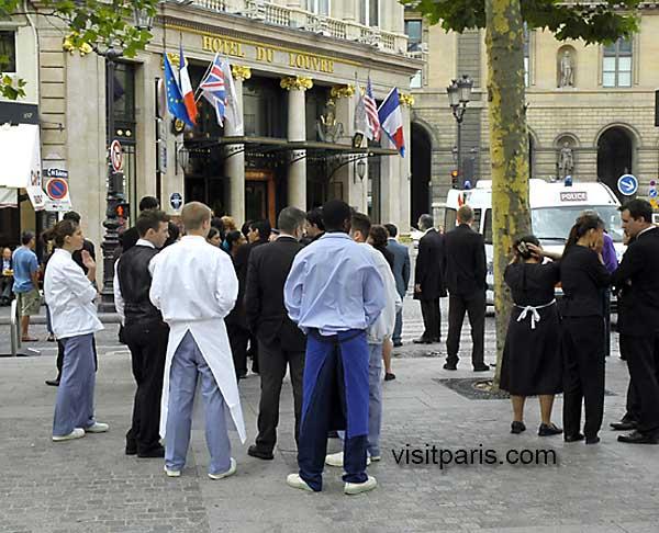 Hotel du Louvre fire, July 2005