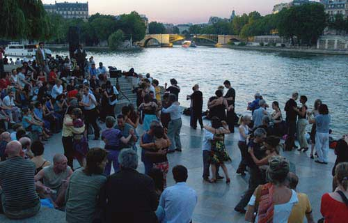 Paris: They dance by the Seine every night...