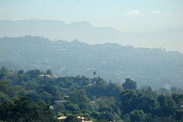 Three ranges of Hollywood Hills