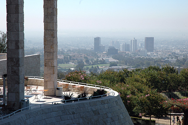 Lunch above Brentwood (the Getty Museum) -