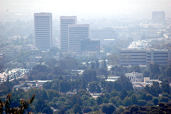 The 405 freeway in the haze...