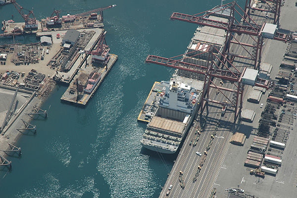 Long Beach Shipping, Aerial View