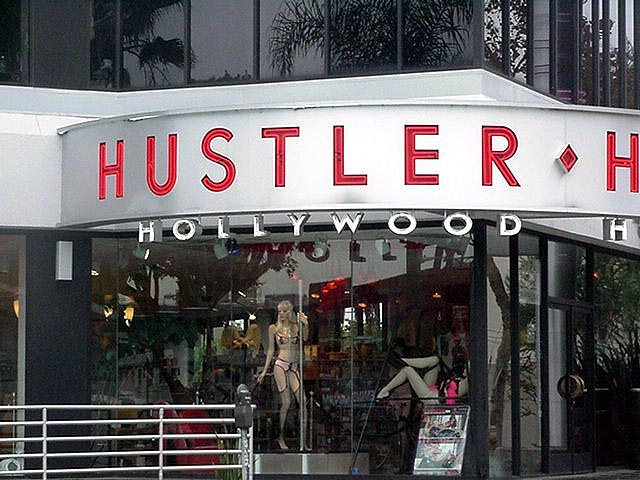 The flagship Hustler store on Sunset Boulevard