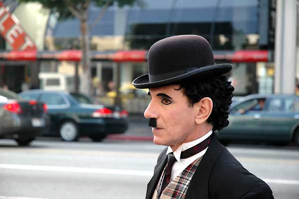 """Charlie Chaplin"" on Hollywood Blvd - 2005"