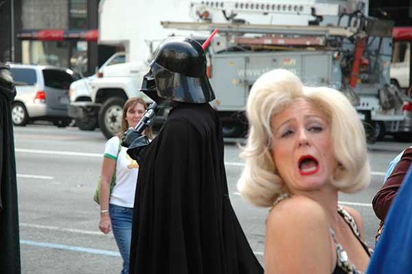 Marilyn Monroe and Darth Vadar - Hollywood Blvd