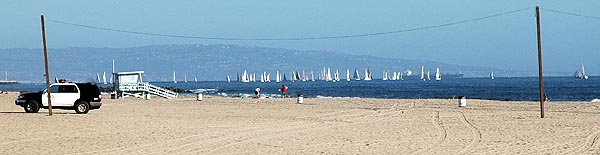 Looking South - Venice Beach Sailboats