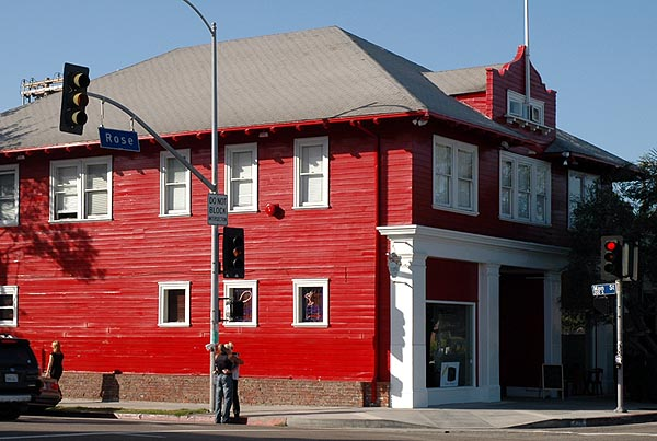 Love at the old red firehouse on Rose Avenue