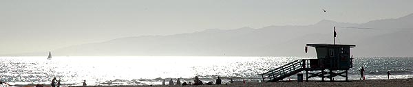 Malibu as seen from Venice Beach