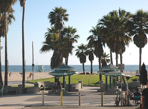 Establishing shot of Venice Beach