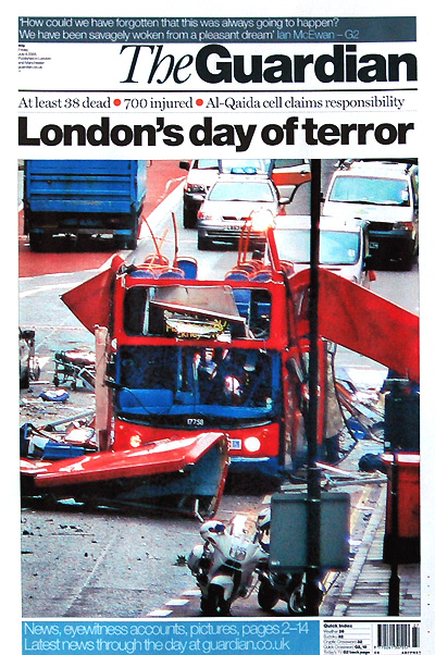 Guardian Front Page 8 July 2005