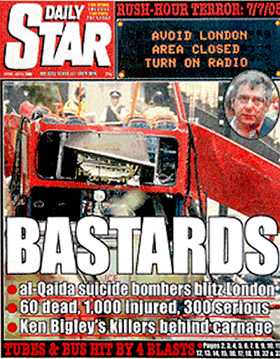 Daily Star Front Page 8 July 2005