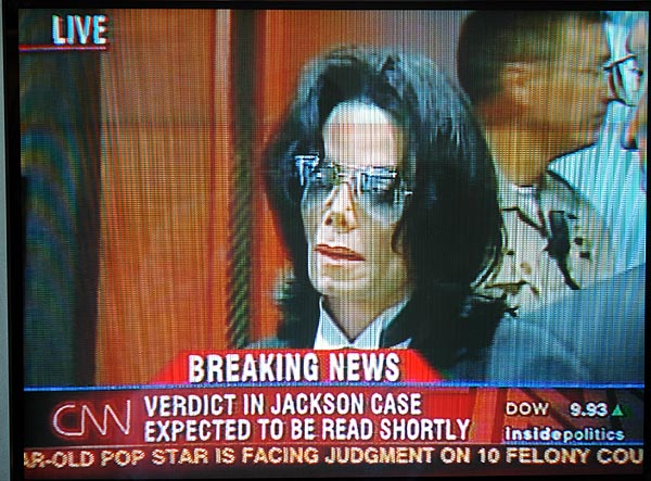 Michael Jackson before the verdict...