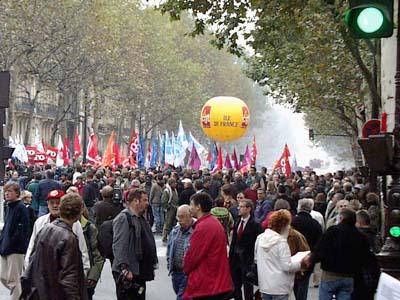Nationwide strike in France, October 4. 2005