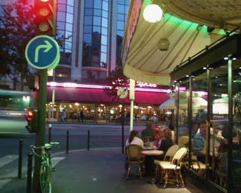 Quiet café moment, Tour Montparnasse, 9 July 2005
