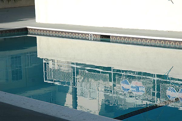 Hollywood pool, in the manner Hockney -