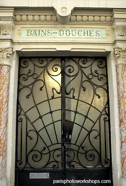 Old Paris bathhouse ...
