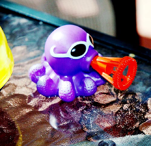The octopus bubble toy...