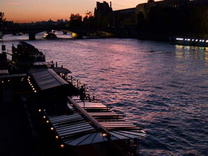 Paris - purple sunset