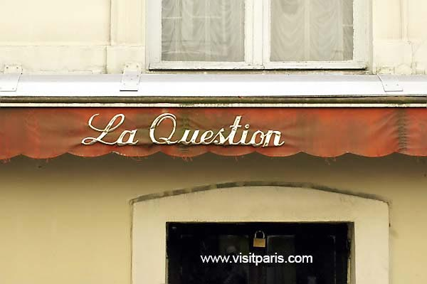 Paris - La Question