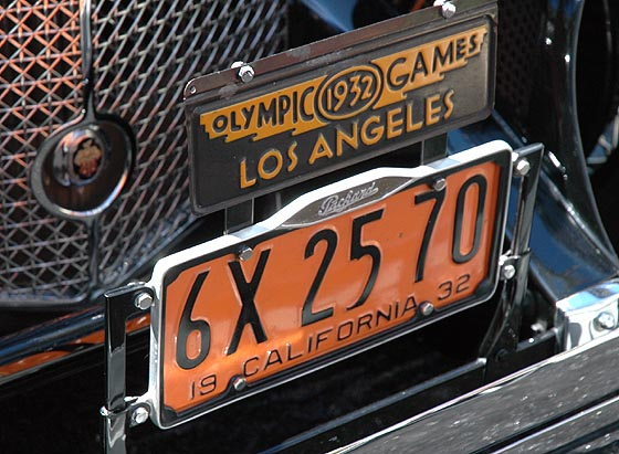 Jean Harlow's 1932 Packard plates...