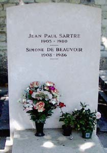 Sartre's grave...