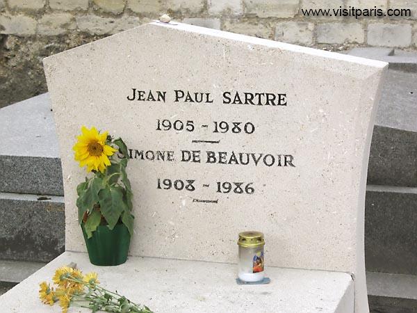 Sartre's gravestone in Paris...