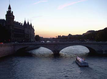 The Seine at dusk...