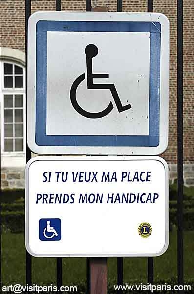Handicapped Sign - Paris