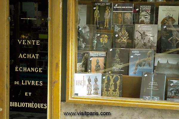 Paris bookstore window...