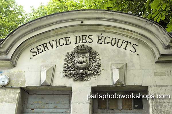 Paris: An old entrance to the sewers....