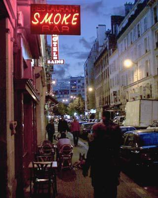 Smoke in Montparnasse - Rue Delambre