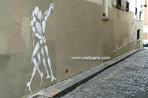Paris street stencil...