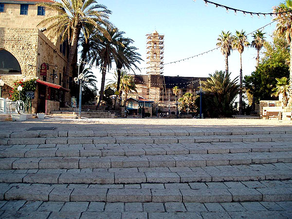 The hilltop of old Jaffa, for tourists only -