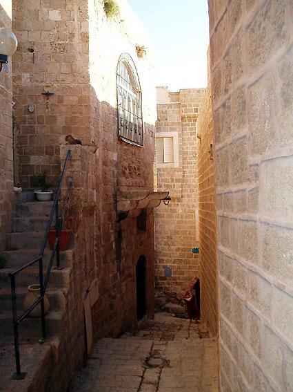 Narrow street in old Jaffa -