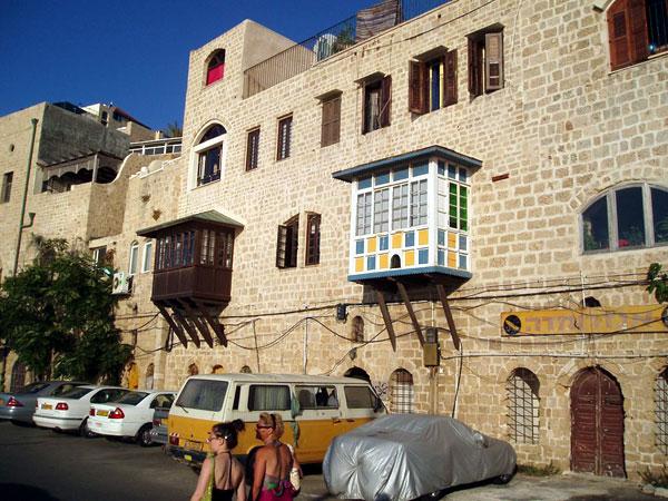 Refurbished buildings on Jaffa port -