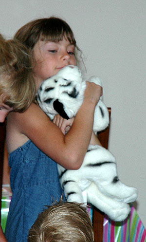 Tiffany and her new tiger...