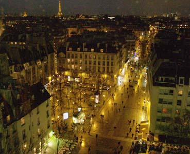 Tour Eiffel from the Pompidou Center