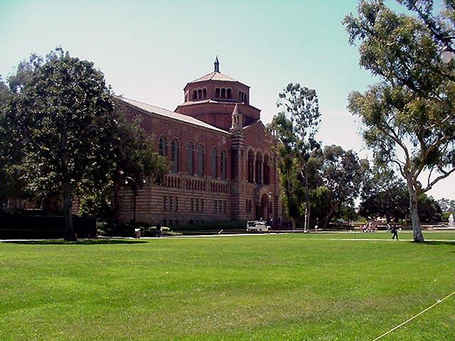 Powell Library on the UCLA campus ...