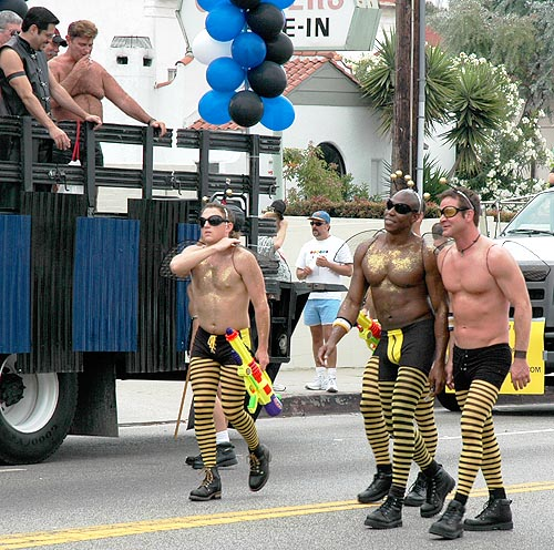 2005 West Hollywood Gay Pride Parade - Bee Men