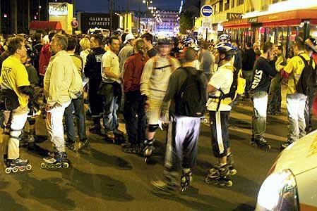Friday night skaters in Paris...