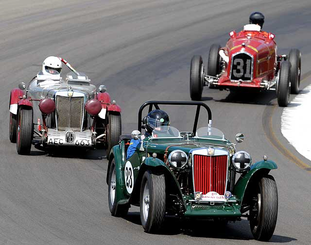Mark O'Day's MG TC leads through the Boot